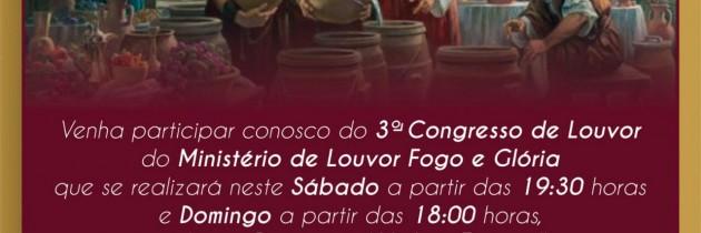 3° Congresso do Ministério de Louvor Fogo e Glória